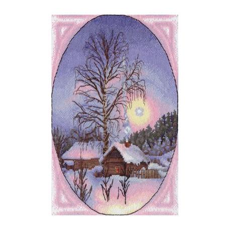 Зимушка, набор для вышивания крестиком, 21х29см, 27цветов Panna