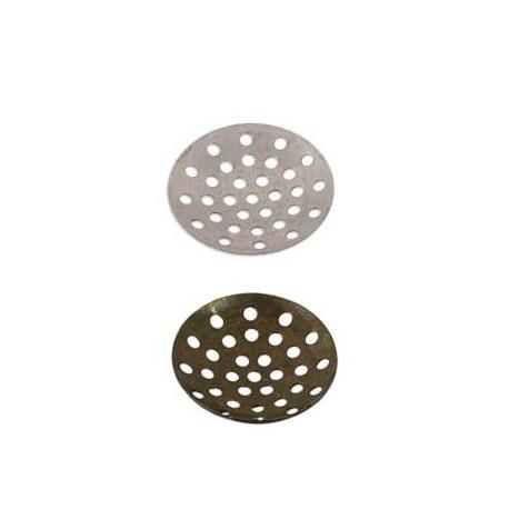 Под серебро, заготовка для рукоделия с отверстиями 1,8см, 5шт, алюминий Zlatka