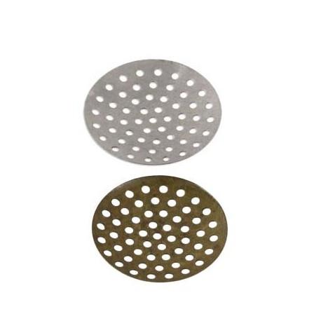 Под серебро, заготовка для рукоделия с отверстиями 2,5см, 5шт, алюминий Zlatka