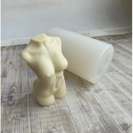 Силиконовая форма для мыла и свечей торс женский