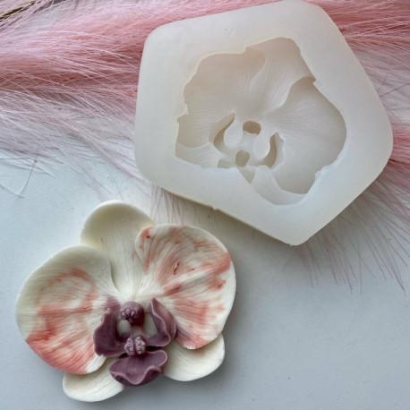 Орхидея, 3D силиконовая форма d9см h2см