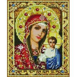 Казанская Пресвятая Богородица, алмазная мозаика на подрамнике 30х40см 36цв полная выкладка PO