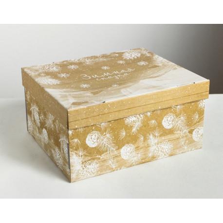 Зимняя сказка, коробка складная 31х26х16см гофрокартон АУ