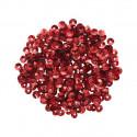 Красный голографик, пайетки граненые объемные 4мм 10гр Астра