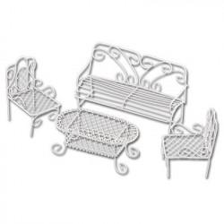 Мебельный гарнитур, заготовка для декорирования металл 11х4.5х8см. Blumentag