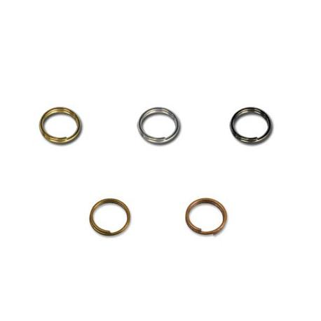 Под черный никель, кольцо двойное для бус 5.5мм 50 шт, железо Zlatka
