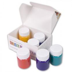 Набор красок для витража акриловых 6х40мл Decola