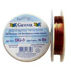 Под медь, проволока для бисера d 0.3мм 10м, Gаmma