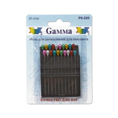 Иглы для квилтинга 20 шт, Gamma
