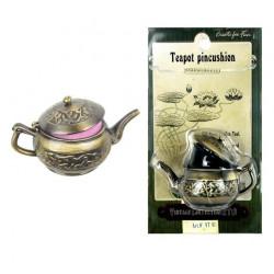 Металлический чайник-игольница Винтаж