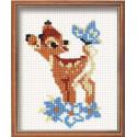 Бэмби, набор для вышивания крестиком, 13х16см, нитки шерсть Safil 5цветов Риолис