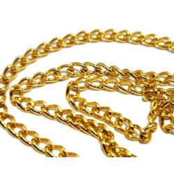 Под золото, цепочка декоративная 5х3.1мм 1м алюминий Micron