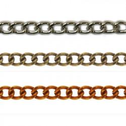 Под серебро, цепочка декоративная 2.7x1.7мм 1м железо Micron