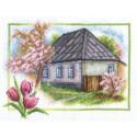 Весна в деревне, набор для вышивания крестиком, 26х20см, 42цвета Panna