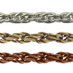 Под серебро, цепочка декоративная 3мм 1м железо Micron