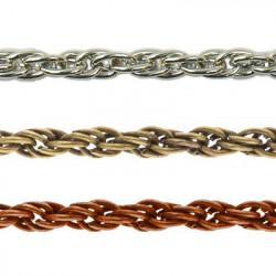 Под серебро, цепочка декоративная 2х2мм 1м железо Micron