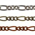 Под бронзу, цепочка декоративная 2х3, 3х6мм 1м железо Micron