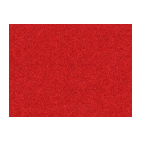 Красный, фетр декоративный А-270/350 40%шерсть, 60%вискоза, толщина 1мм, 30х45см