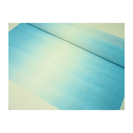 Голубой-белый, креп(гофробумага), 2,5*0,5м