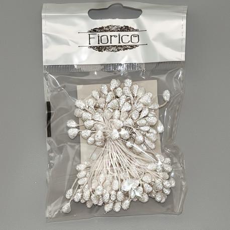 Белый, тычинки для цветов, 85шт. Fiorico