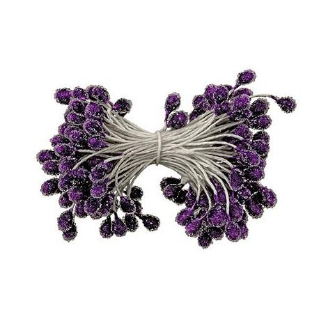 Светло-сиреневый, тычинки для цветов, 85шт. Fiorico