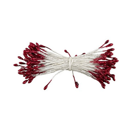 Бордовый, тычинки для цветов, 85шт. Fiorico