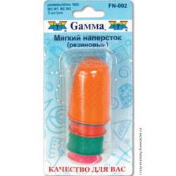 Наперсток резиновый для фелтинга 5шт ассорти, Gamma