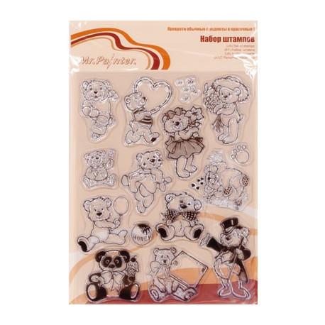 Мишки №2, набор штампов 14*18 см Mr.Painter