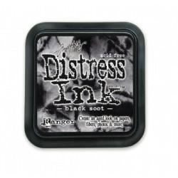 Штемпельная подушечка Tim Holtz Distress на водной основе, 5х5 см, цвет черная сажа