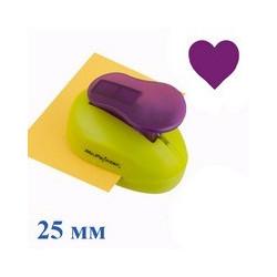 Сердце №2, фигурный дырокол, 25мм, Mr.Painter