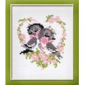 Первая любовь, набор для вышивания крестиком 13х16см нитки шерсть Safil 7цветов Риолис