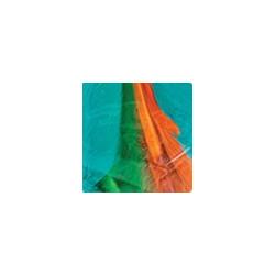 Голубой/зеленый/охра, декоративные перья, 24шт, Mr. Painter