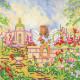 Утро, холст с рисунком для вышивки бисером, 20х20см, 17цветов АбрисАрт