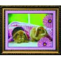 Кролики 2, набор для вышивки бисером, 23х18см, 5цветов АбрисАрт
