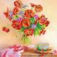Утренний чай, холст с рисунком для вышивки бисером, 20х20см, 18цветов АбрисАрт
