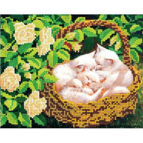 Сиеста, холст с рисунком для вышивки бисером, 20х16см, 9цветов АбрисАрт