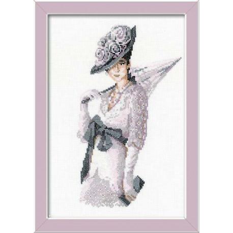 Мисс Элегантность, набор для вышивания крестиком, 21х30см, мулине хлопок Anchor 13цветов Риолис