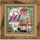 Город и кошки.Лето, набор для вышивания крестиком, 13х13см, нитки шерсть Safil 10цветов Риолис