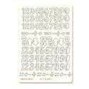 Цифры №1 чипборд 11,5х16,5 см Mr.Painter
