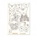 Бабочки, чипборд 11,5х16,5 см Mr.Painter