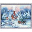 Накануне Рождества, набор для вышивания крестиком, 45х35см, мулине хлопок Anchor 22цвета Риолис