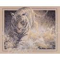 Белая молния, набор для вышивания крестиком, 38х30см, 47цветов Dimensions