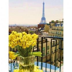 Париж.Желтые розы, набор для изготовления картины стразами 38х48см 31цв. полная выкладка Гранни