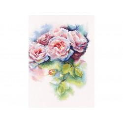 Розовая нега, набор для вышивания крестиком, 25х32см, мулине DMC хлопок PTO
