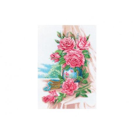 Великолепные розы, набор для вышивания крестиком, 30х42см, мулине DMC хлопок PTO