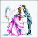 Свадьба, набор для вышивания крестиком, 20х20см, мулине DMC хлопок PTO