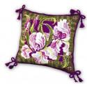 """Подушка """"Ирисы"""", набор для вышивания крестиком, 40х40см, нитки шерсть Safil 9цветов Риолис"""