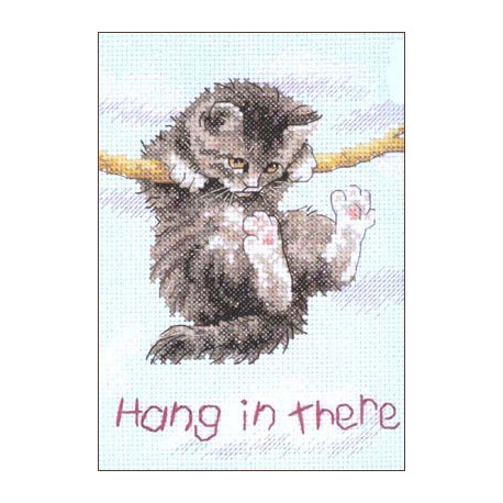 Держись котенок!, набор для вышивания крестиком, 13х18см, 14цветов Dimensions