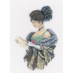 Любовное письмо, набор для вышивания крестиком, 13х18см, мулине DMC хлопок PTO