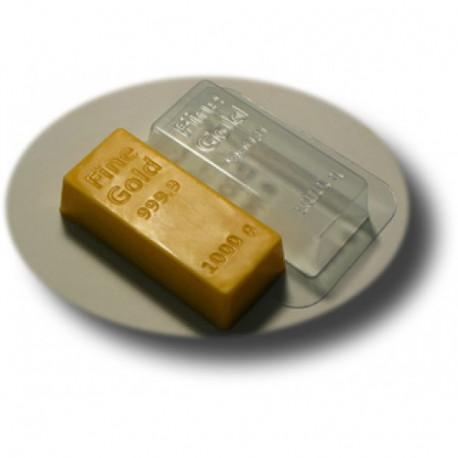 Золотой слиток, пластиковая форма для мыла